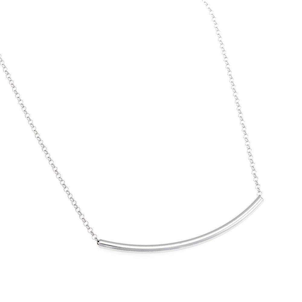 Paclo 16TU03CONR999 argento ag 925 Collana Galvanica Rodiata Couture 42 piu 3cm