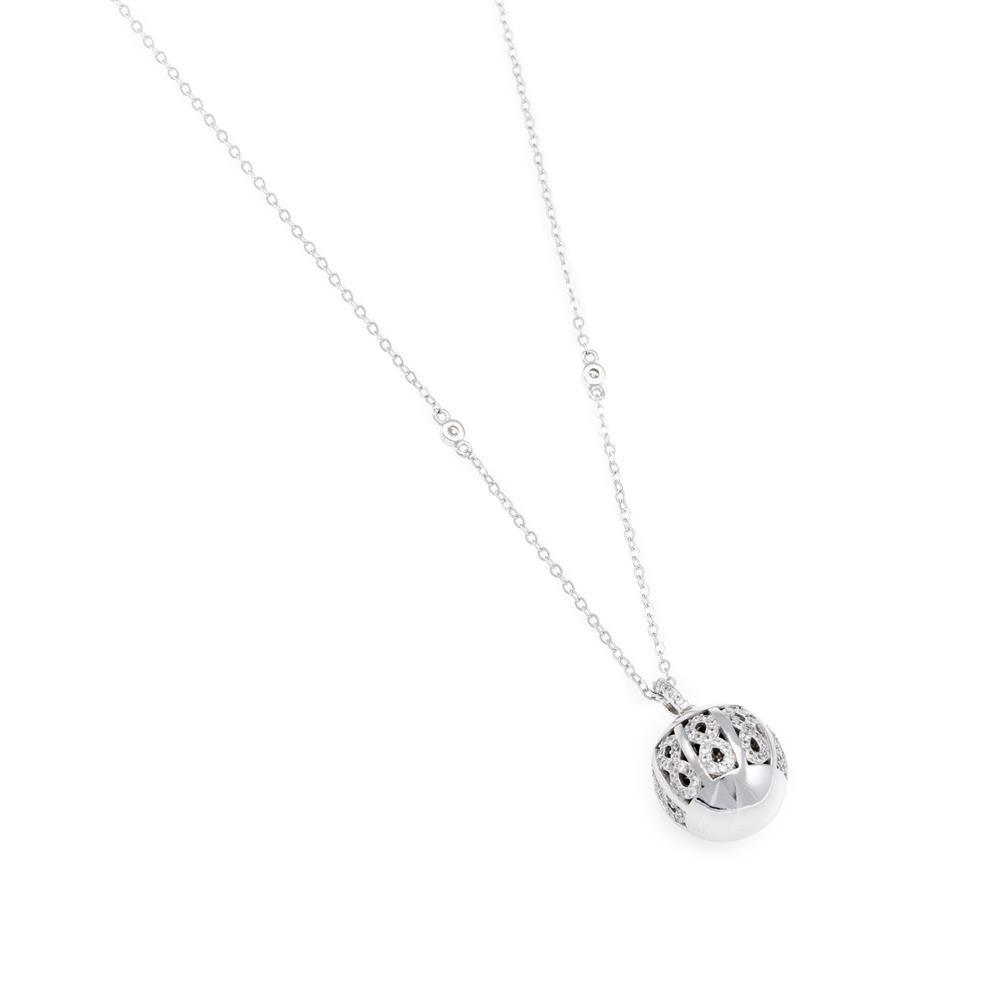 Paclo 16Z063IPNR999 argento ag 925 Collana Galvanica Rodiata Zircone Bianco 70cm