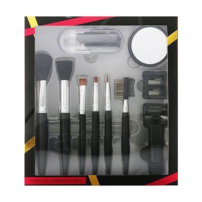 Active Cosmetics Prestige Luxe Brush Confezione Regalo 6 Pennelli  Specchio  Piegaciglia  5 Applicatori  Temperamatite