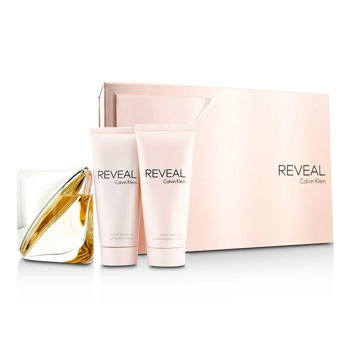 Calvin Klein Reveal Confezione Regalo 100 ml EDP Spray  100 ml Lozione Corpo  100 ml Gel Doccia