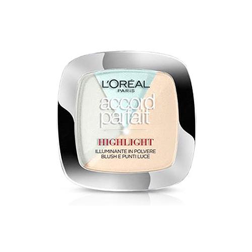 LOral Paris  Accord parfait highlight  illuminante in polvere blush e punti luce 302r chiaro