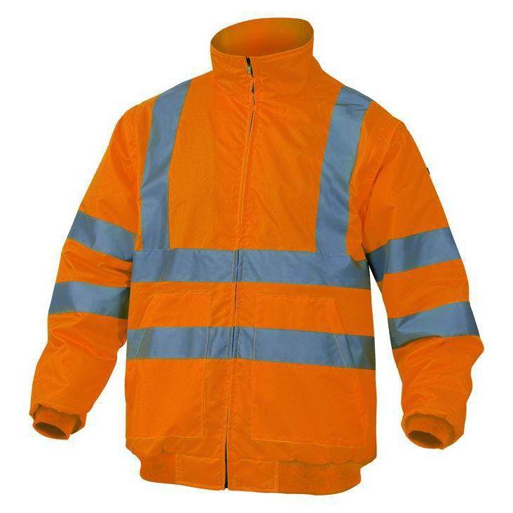Giubbotto alta visibilita Taglia XXXL PANOPLY RENOHV ARANCIOFLUO giaccone sicurezza lavoro antinfortunistica stradale