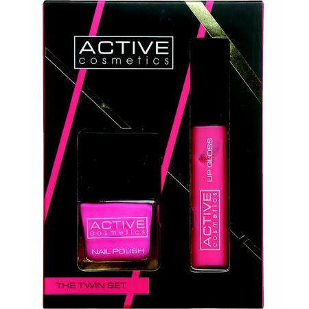 Active Cosmetics The Twin Set Smalto Pink  Lucidalabbra Pink