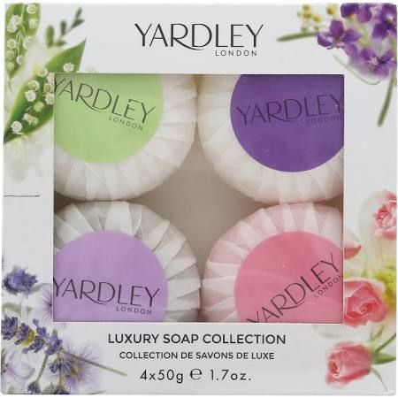 Yardley Luxury Soaps Collection Confezione Regalo 5 Saponi x 50g Lavender  Lily Of The Valley  Rose  April Violets