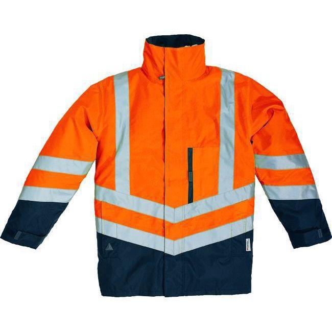 PARKA PANOPLY OPTIMUM 4 in 1 TAGLIA S ARANCIOFLUOBLU giacca giaccone giubbino gilet alta visibilit sicurezza antifornutinstica antifreddo