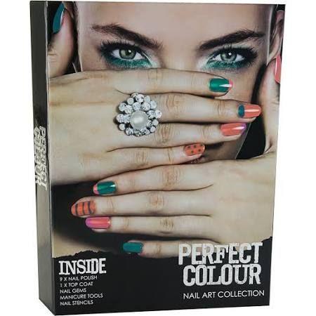 Jigsaw Perfect Colour Nail Art Collection Confezione Regalo 23 Pezzi Manicure Set  Smalti  Gemme per Unghie  Stampini per Unghie