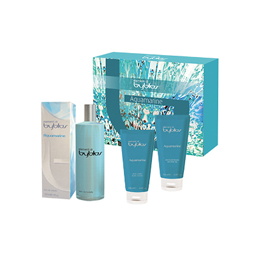 Byblos  Cofanetto aquamarine  eau de toilette 120 ml  shower gel 100 ml  body lotion 100 ml