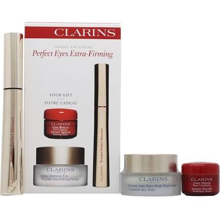 Clarins Perfect Eyes Extra Firming Confezione Regalo 15ml Extra Firming Crema per Rughe Contorno Occhi  7ml Wonder Perfect Mascara  4ml Instant Smooth Perfecting Touch