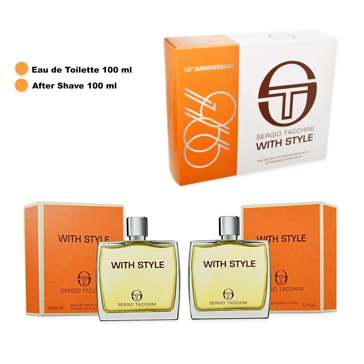 Sergio Tacchini  Cofanetto with style  eau de toilette 100 ml  after shave lotion 100 ml