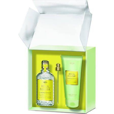 Maurer  Wirtz 4711 Acqua Colonia Lemon  Ginger Confezione Regalo 170ml EDC  200ml Gel Doccia
