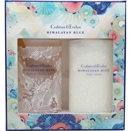 Crabtree  Evelyn Himalayan Blue Confezione Regalo 200ml Lozione Corpo  200ml Bagnoschiuma  Gel Doccia