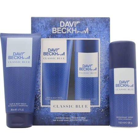 David Beckham Classic Blue Confezione Regalo 150ml Body Spray  200ml Shampoo  Bagnoschiuma