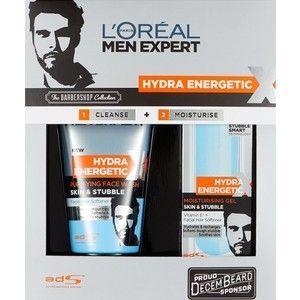LOreal Men Expert Hydra Energetic Barber Shop Confezione Regalo 150 ml Detergente Viso  50 ml Gel Idratante