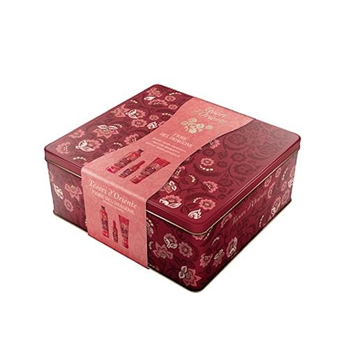 Tesori dOriente  Cofanetto doccia crema 250 ml  bagno crema 500 ml  profumo aromatico 100 ml  scatola in metallo varie fragranze