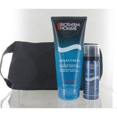 Biotherm Homme Aquafitness Confezione Regalo 200ml Gel Doccia  50ml Schiuma da Barba  Beauty Case