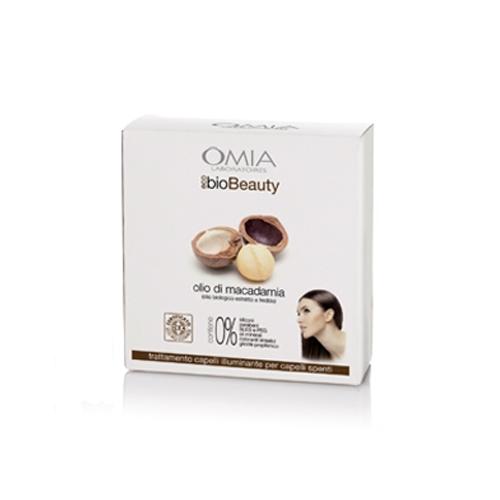 Omia  Cofanetto ecobio beauty hair set olio di macadamia  shampoo 250 ml  balsamo 200 ml  pettine denti larghi per condizionare  beauty case