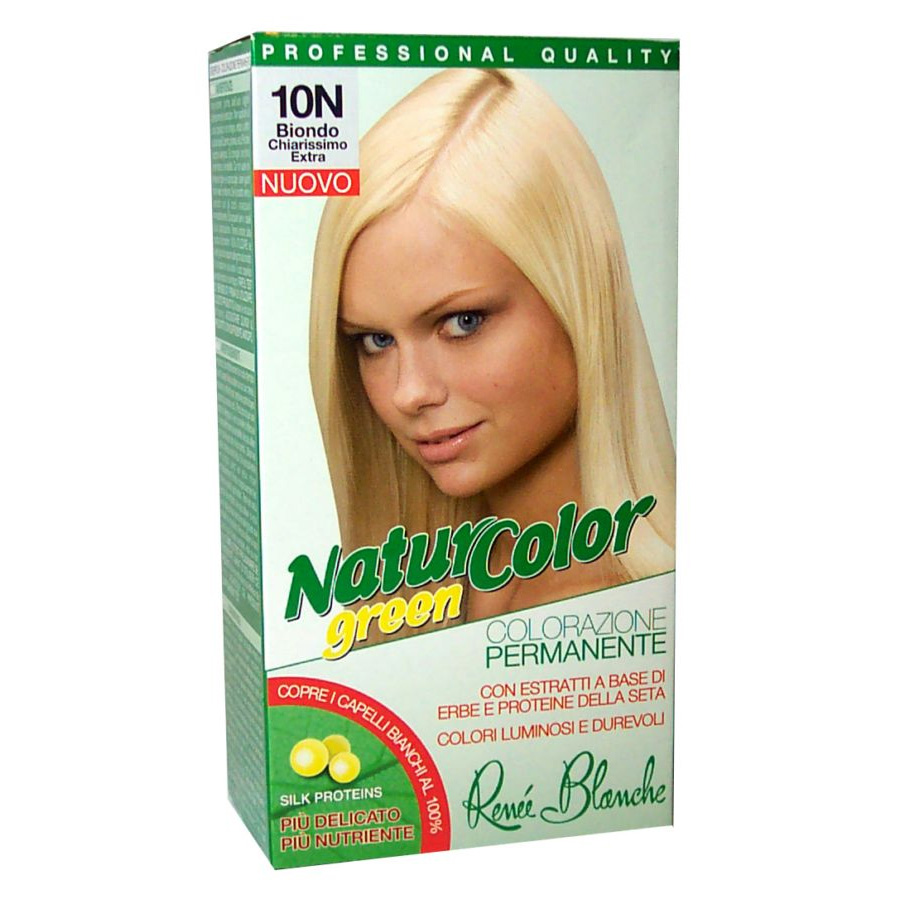 Rene Blanche Tinta per capelli colorazione permanente naturale natur color green 10n biondo chiarissimo extra