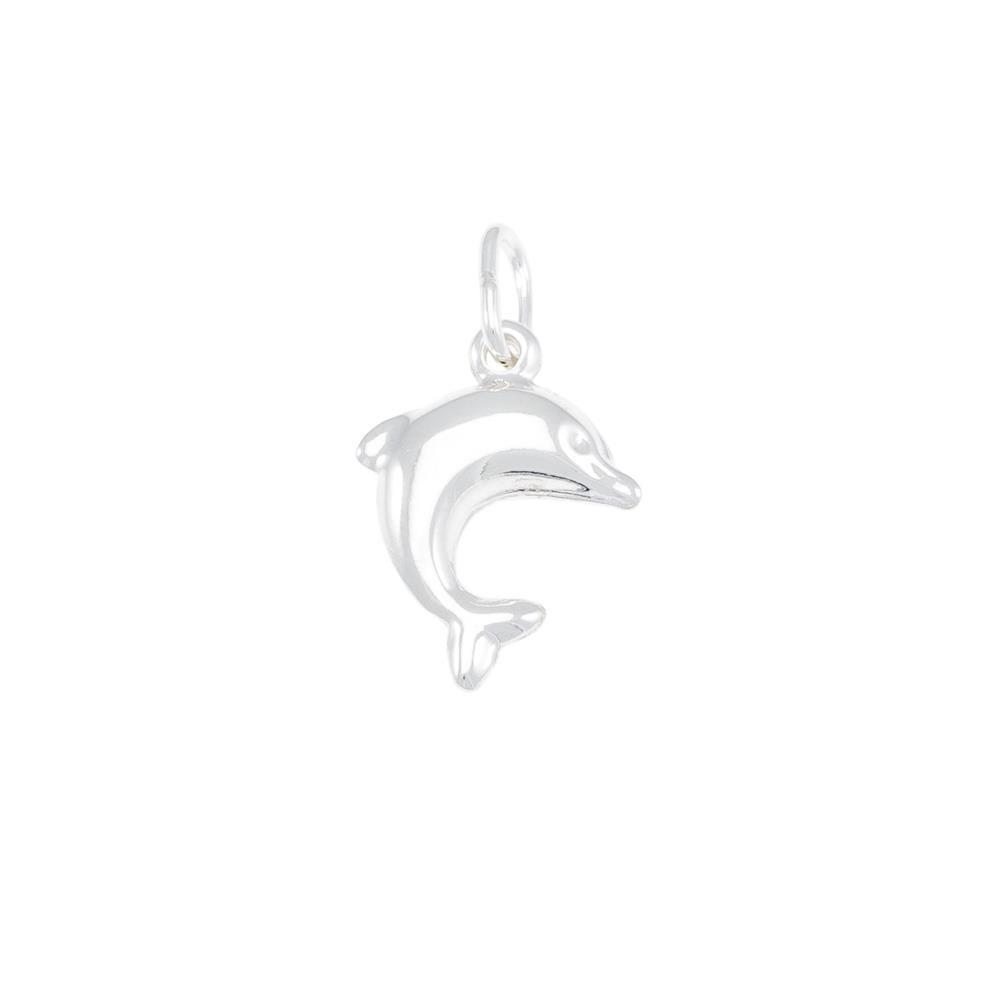 Paclo 16A001CLPA999 argento ag 925 Pendente Galvanica Argentata Delfino 2cm