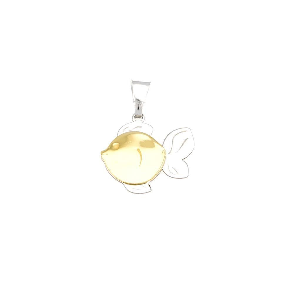 Paclo 16A022LIPX999 argento ag 925 Pendente Galvanica Multicolore Pesce 3cm