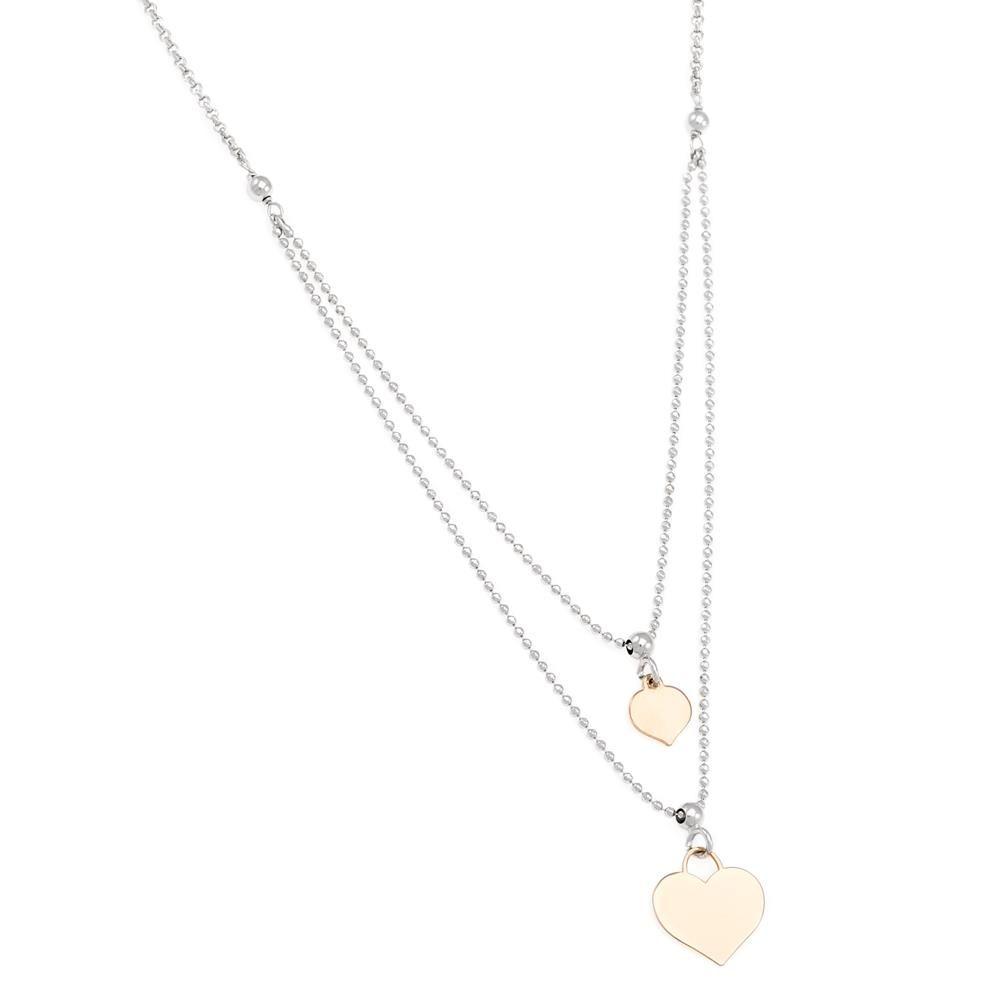 Paclo 16C083LINX999 argento ag 925 Collana Galvanica Multicolore Multifilo Cuore 40 piu 3cm