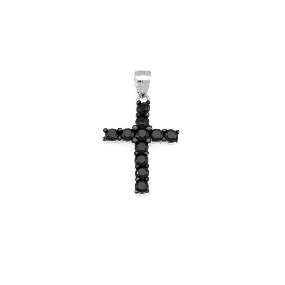 Paclo 16CR27REPR999 argento ag 925 Pendente Galvanica Rodiata Motivo Religioso Zircone Colorato 2cm