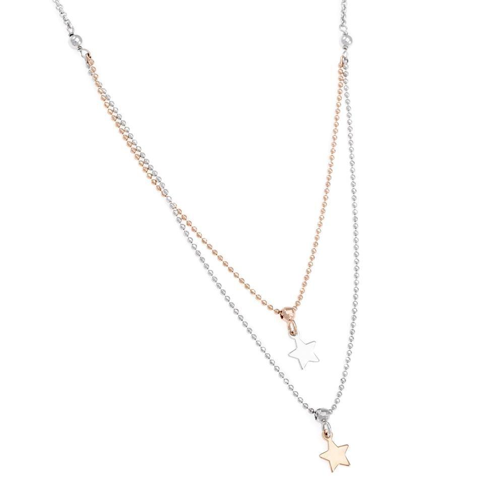 Paclo 16ST44LINX999 argento ag 925 Collana Galvanica Multicolore Multifilo Stella 40 piu 3cm