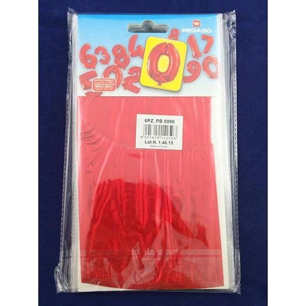 Palloncino Numero 0  Rosso