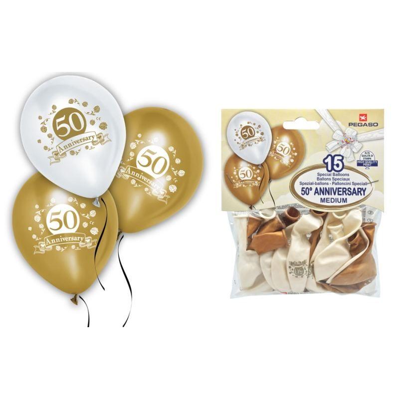 Palloncini 50 Anniversario 15 pz