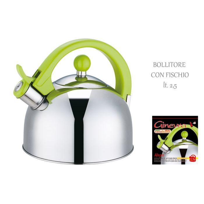 Allegro  Bollitore Ginvera Manico Verde Inox 25 Lt  C112922