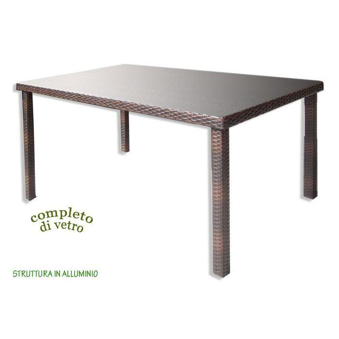 Tavolo in Polirattan 160 x 90 cm