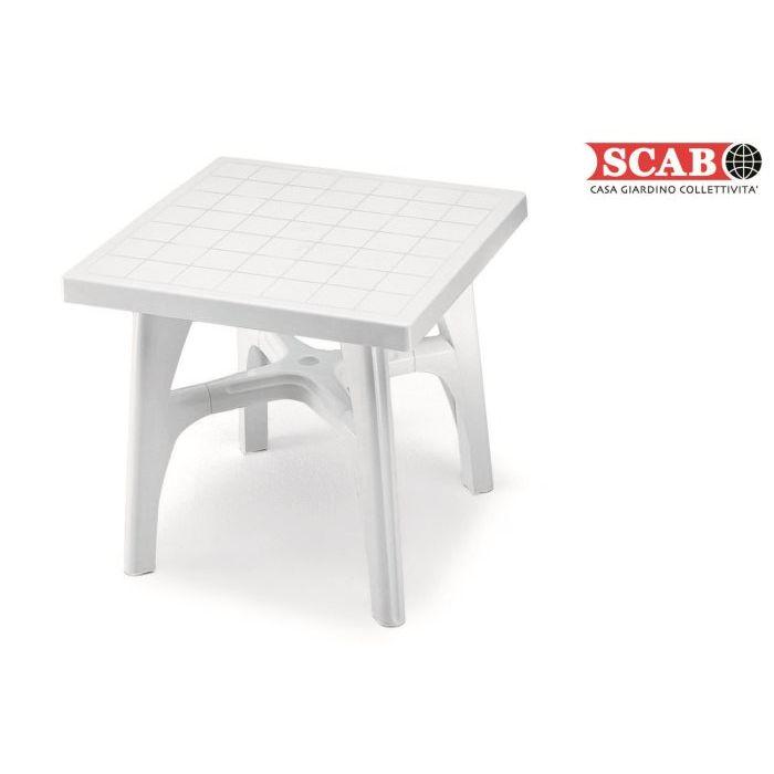 Scab Tavolo da Giardino Quadromax 80 x 80 cm Bianco
