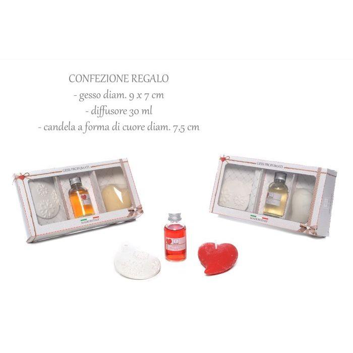 Mercury  Confezione regalo gesso  diffusore  candela COLORI ASSORTITI