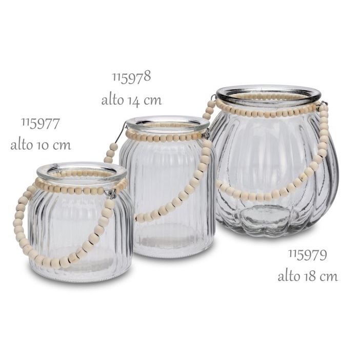 SinSIn  Lanterna Tealight in vetro 14 cm 115978