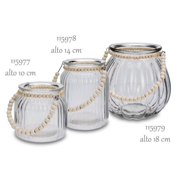 SinSIn  Lanterna Tealight in vetro 18 cm 115979