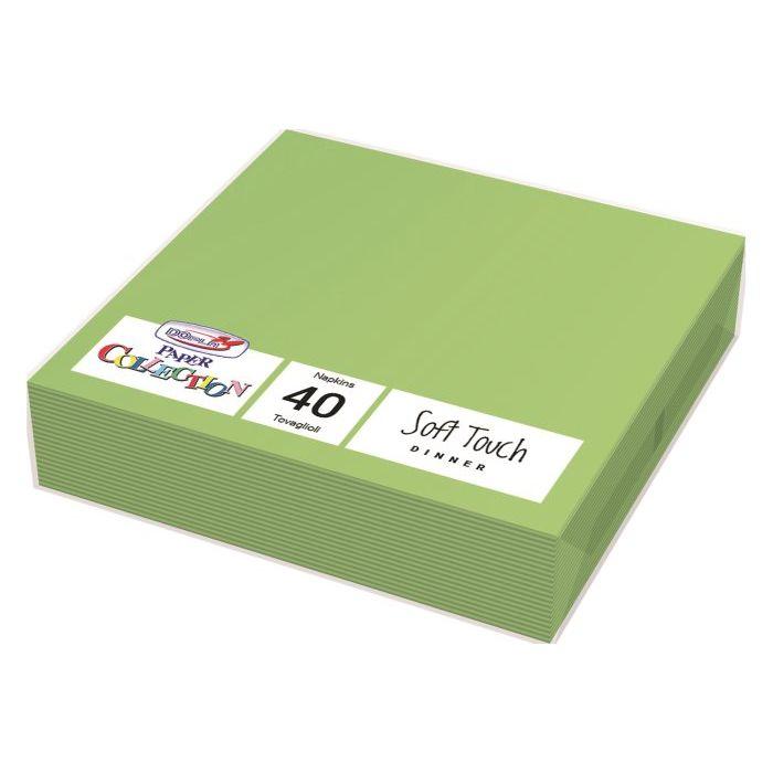 Tovaglioli Usa e Getta 2 Veli 38 x 38 cm 40 Pezzi Verdi