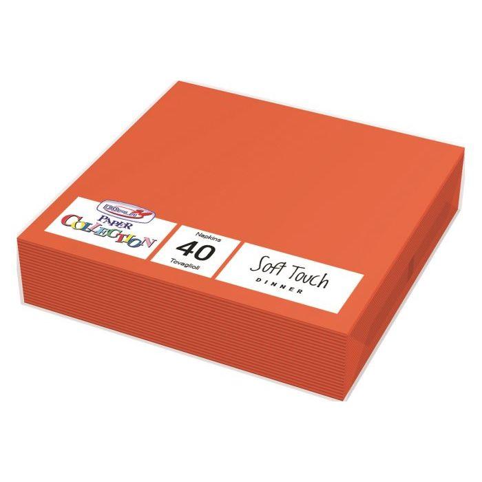 Tovaglioli Usa e Getta 2 Veli 38 x 38 cm 40 Pezzi Arancione