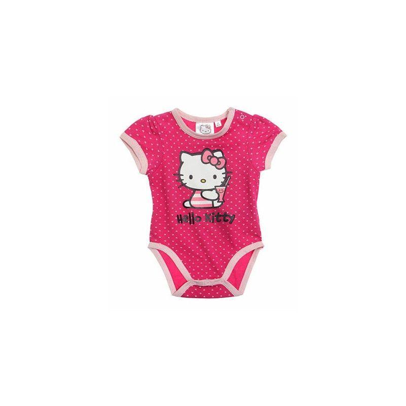 Body bodino intimo bimba neonato Hello Kitty fucsia 18 m
