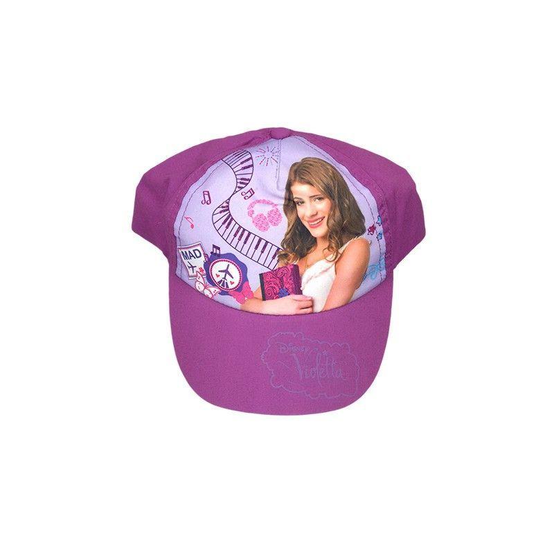 Cappello berretto bimba Disney Violetta viola tg 54