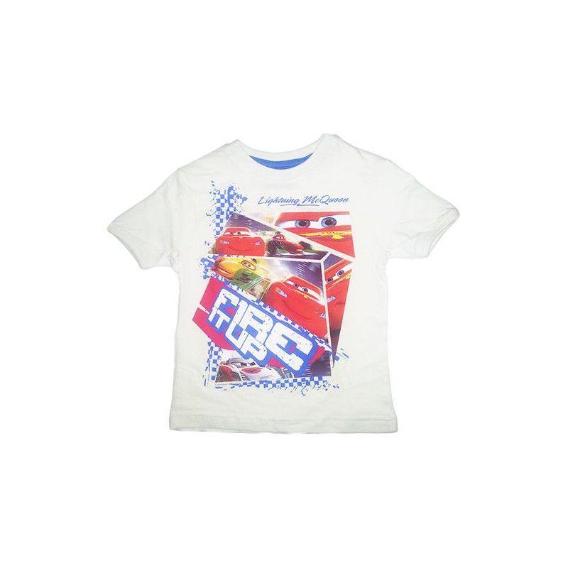 Tshirt maglia maglietta bimbo bambino Disney Cars bianco 3A