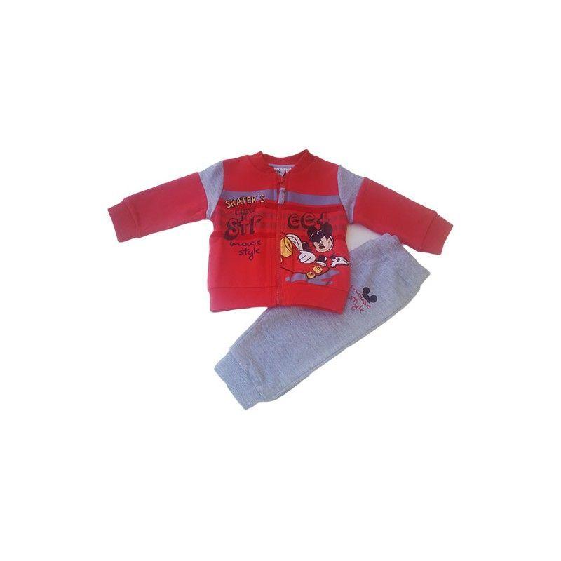 Completo tuta 2pz maglia maglietta pantalone bimbo neonato Disney baby Mickey 1  3 mesi