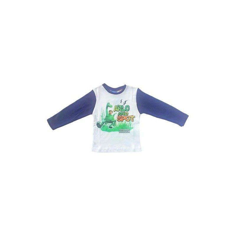 Tshirt maglia maglietta bimbo bambino The Good Dinosaur Disney blu 4A