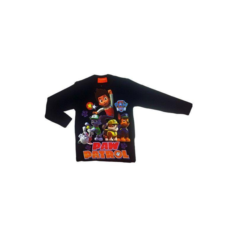 Tshirt maglia maglietta cotone bimbo bambino Paw Patrol blu 6A