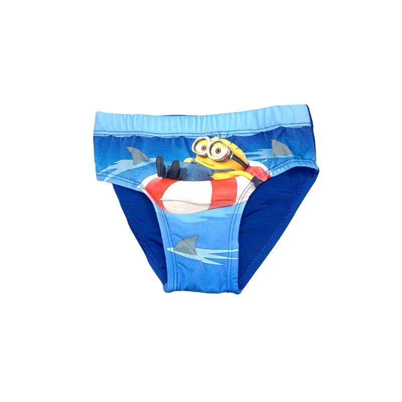 Costumino costume da bagno slip bimbo bambino Minions azzurro 8A