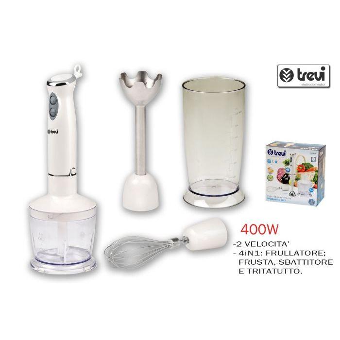 Trevi PR174 Mulinello Kit Mixer ad Immersione con Kit Accessori