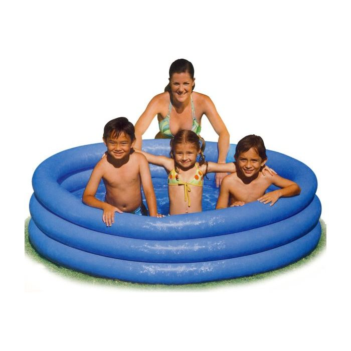 Intex  Piscina Crystal 3 Anelli Blu  168 x 38 cm