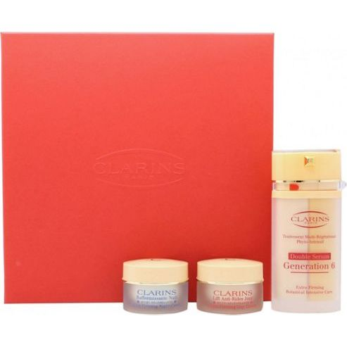 Clarins  MultiRegenerante Gift Set 30 ml Double Serum Generation 6  15 ml ExtraFirming Day Lifting Crema  15 ml ExtraFirming Night Rejuvenating Crema