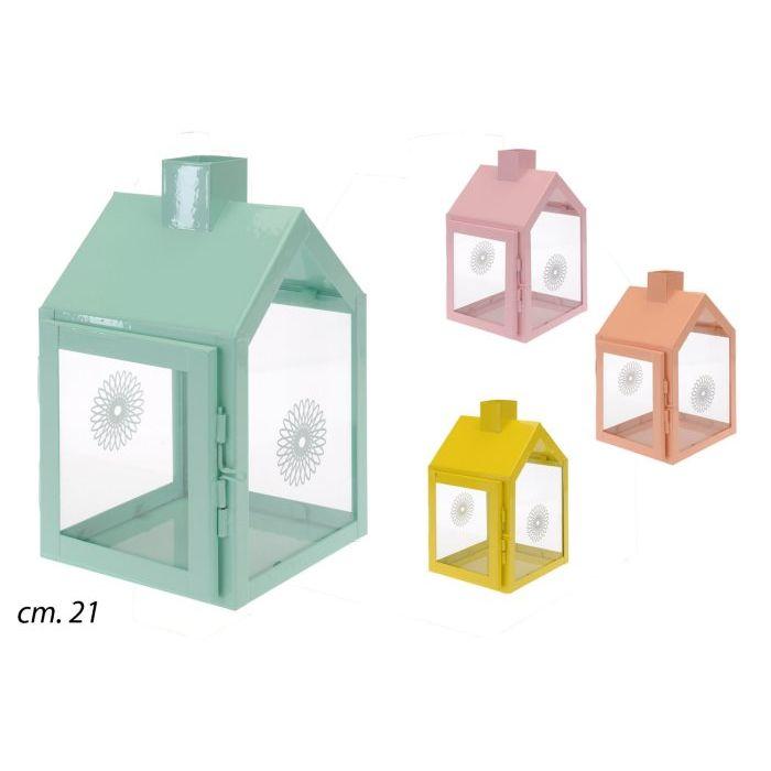 Koopman Lanterna Casetta in Metallo 21 cm