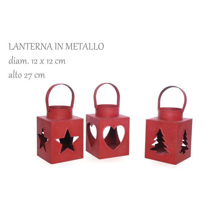 Mercury Lanterna in Metallo con Manico 12 x 12 x 27 cm