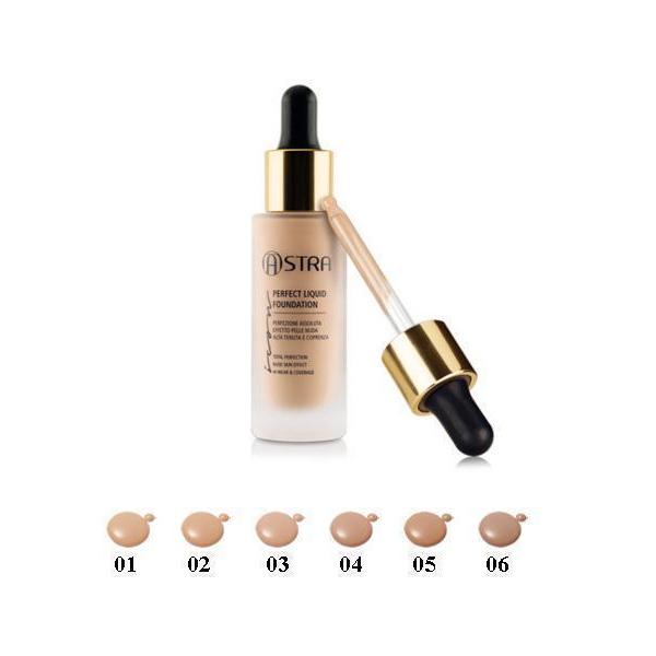 Astra  Icon perfect liquid foundation  fondotinta liquido 02 beige naturel