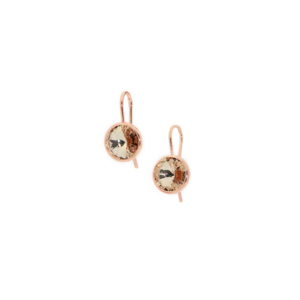 Paclo 14CYN8STEP999 argento ag 925 Orecchini Galvanica Rose e Swarovski Light Colorado